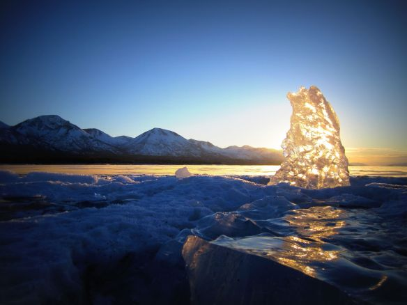 Ice on Lake Clark