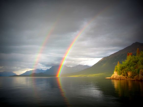 Rainbow over Lake CLark