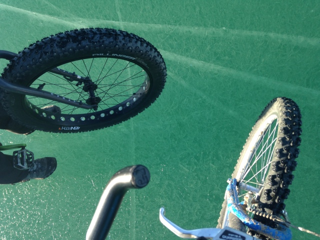 Studded tires for ice biking