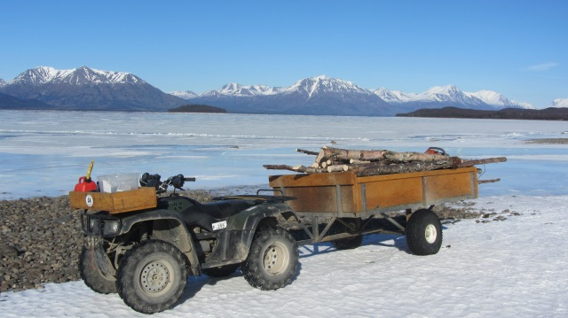 Woodcutting on Lake Clark
