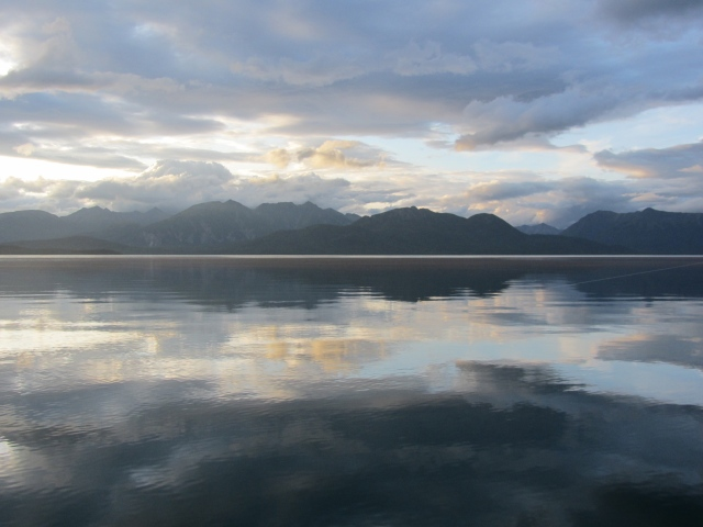 Reflection on Lake Clark